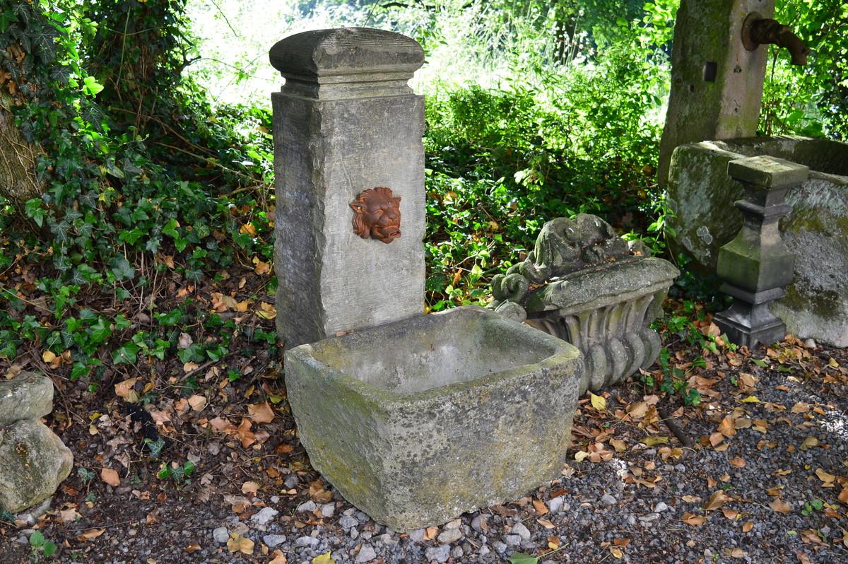 Art nr 3074 kleiner brunnen mit s ule im barockstil - Kleiner springbrunnen garten ...